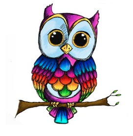 The Rainbow Owl logo